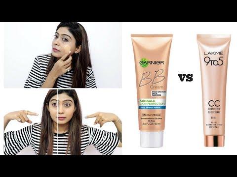 Garnier BB Cream Vs Lakme cc cream   How to Apply BB and  CC Cream   Rinkal Soni