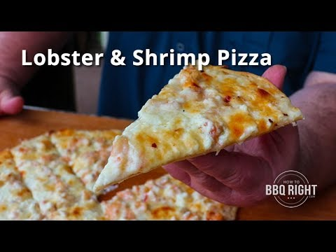 Grilled Seafood Pizza with Lobster & Shrimp