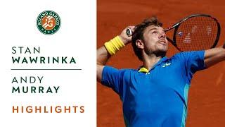 Stan Wawrinka v Andy Murray Highlights - Men's Semi-Final 2017 | Roland-Garros