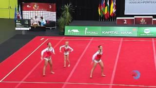 UKRAINE, Juniors Women's Group    Juniors Euroacro 2013