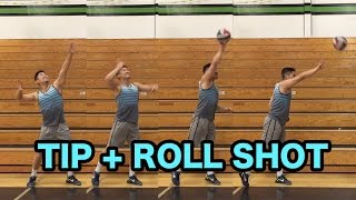 How to TIP and ROLL / CUT SHOT - How to SPIKE a Volleyball Tutorial