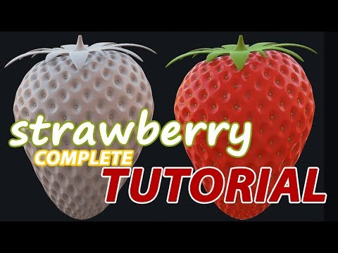 Autodesk Maya 2018 Tutorial – Strawberry Modeling and Rendering