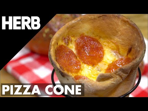 INFUSED PIZZA CONES RECIPE | HERB VIDEO