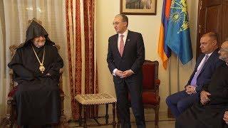 Встреча министра иностранных дел Зограба Мнацаканяна с предводителем кипрской епархии и руководителями армянских организаций Кипра