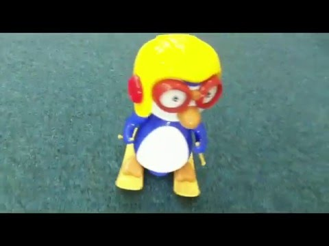 BO Baby Toy Pororo Happy Penguin Skiing Toy With Music & Light