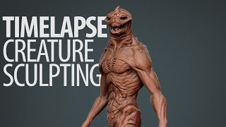 Gambar cover Time-Lapse Sculpting in ZBrush: Sea Monster by Darrell Abney