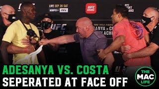 Israel Adesanya throws white belt back in Paulo Costa's face during Final Face Off