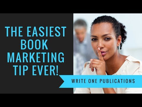 How to market your book online - The easiest book marketing tip ever!