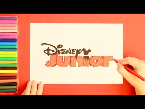 How to draw Disney Junior Logo