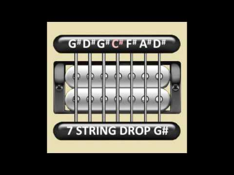 Perfect Guitar Tuner (7 String Drop G# / Ab = G# D# G# C# F# A# D#)