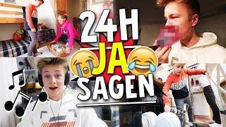 1 Tag JA SAGEN Challenge! Max rappt im Musikvideo 😂 TipTapTube 😁 Familienkanal 👨👩👦👦