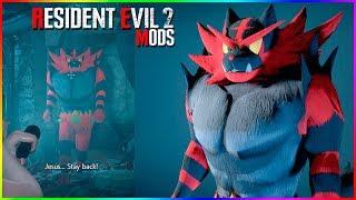 Resident Evil 2 Mods Incineroar over Mr X