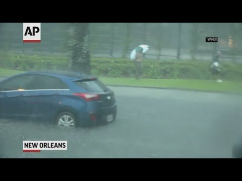 A storm swamped streets in New Orleans and prompted a tornado warning as concerns grew that even worse weather, including a possible hurricane, could strike Louisiana and other states along the Gulf of Mexico within days. (July 10)