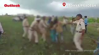 Watch: MP Police Assault Dalit Couple For Protest Over Anti-encroachment Drive