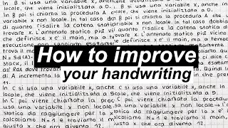 How To Improve Your Handwriting | On Paper And On The IPad/GoodNotes