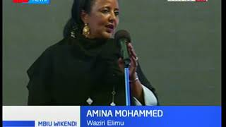 Sherehe za makaribisho ya waziri wa elimu, Amina Mohammed zafanyika Kakamega