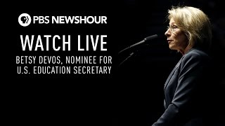 WATCH LIVE: Betsy Devos confirmation hearing