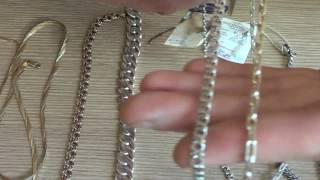 Виды плетения цепей из серебра