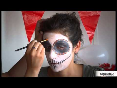 Tutoriel maquillage Dia de la Muerte