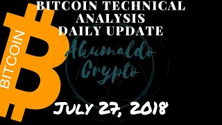 Bitcoin technical analysis - Accept your mistakes, learn, and act accordingly[July 27, 2018]
