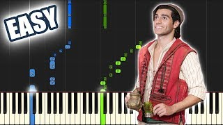 One Jump Ahead - Mena Massoud (Aladdin 2019) | EASY PIANO TUTORIAL By Betacustic