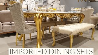 DESIGNER DINING SETS | IMPORTED AND ULTRA LUXURY FURNITURE | MAHIRA STORE SULTANPUR NEW DELHI