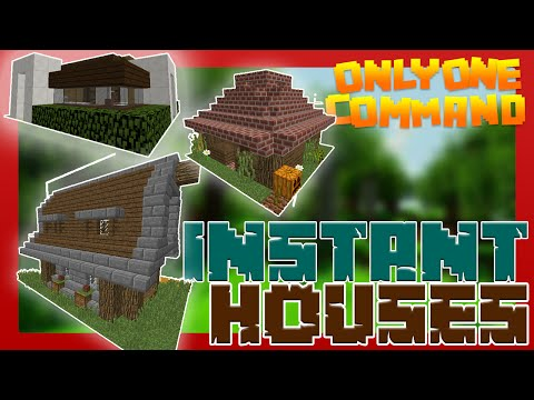 INSTANT HOUSES With Only One Command Block Minecraft Survival - Minecraft hauser comand