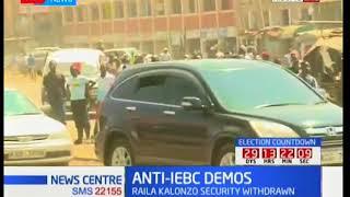 NASA protest in regards to IEBC officials