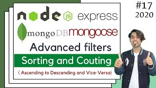 🔴 #17: MongoDB Sorting and Count Query Methods using Mongoose and Node(Express JS) in Hindi in 2020