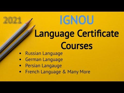 IGNOU Language Certificate Courses 2021   German Language ...