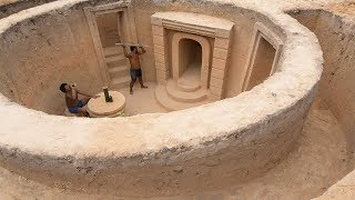 Building Most Fantastic Underground House By Craftsmanship (All Part1 and Part2)