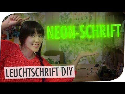 Neonschrift DIY   mit breedingunicorns I #flipdiy