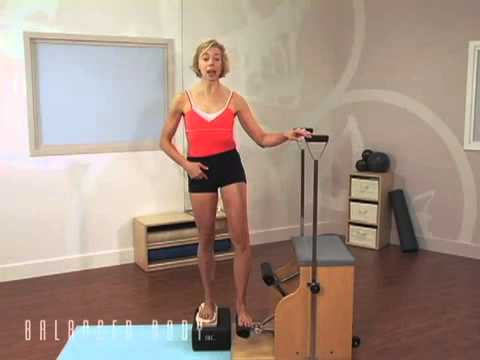 תרגילים בנשיאת משקל על כיסא פילאטיס