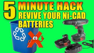 STOP! Revive your DEAD Nicad rechargeable battery in 5 minutes