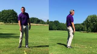 Learning to Lag 5 - The Divot drill - Setup 4 Impact Golf swing.