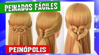 3 Peinados Faciles y Rapidos para cada dia 💗 Trenzas con Cabello Suelto