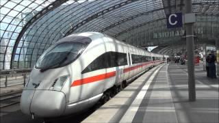 Zugverkehr in Berlin Hbf [HD]