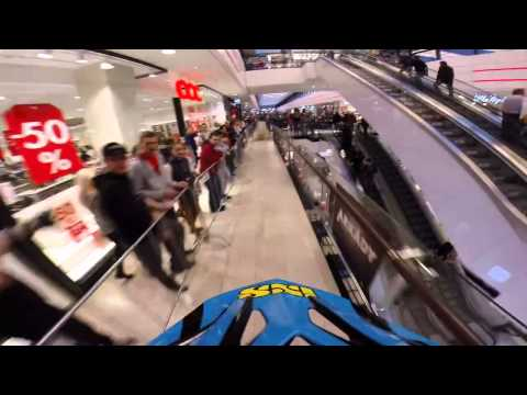 MTB Ride in a Busy Mall