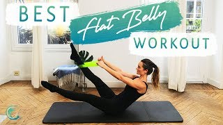 Controlled CORE PILATES ab workout = targeted muscles and lean tone