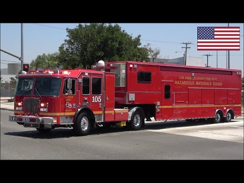 2d6fc4d3ad NEW HazMat fire trucks x3 and ambulance responding on siren and lights play