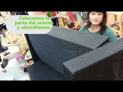 Cómo montar los sofás del conjunto Asgard - Muebles Jardín