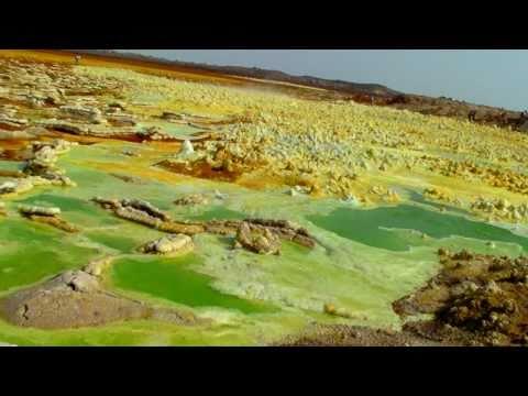 Dallol volcano in the Danakil desert, Gr