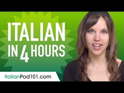 Learn Italian in 4 Hours - ALL the Italian Basics You Need - YouTube