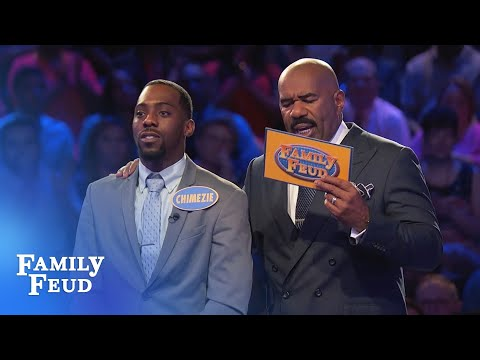 Chimeze makes it look easy! | Family Feud