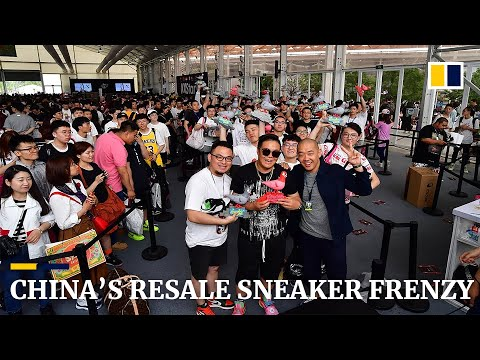 China's resale sneaker business drives soaring prices