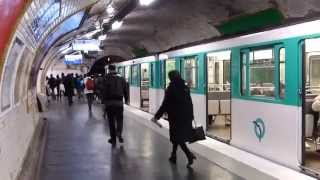 preview picture of video 'Paris Metro Line 11 15 January 2015'