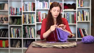 How to Connect Two Knitting Sections on an Infinity Scarf : Knitting Tips & Techniques