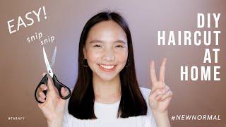 EASY DIY HAIRCUT AT HOME / How To Cut Your Own Hair (Medium Length) #NEWNORMAL