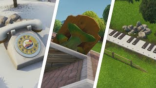 Fortnite - Oversized Phone, Big Piano & Giant Dancing Fish Trophy Location Guide (Season 9)