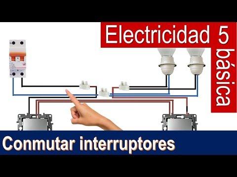 Electricidad básica 5: conmutar dos interruptores  (Bricocrack)